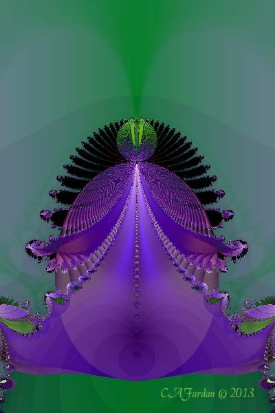 Abstract Fractal Art Print The Purple Crown 4 x by TerraTreasures