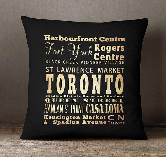 Toronto Souvenir / Toronto Ontario Throw Pillow / Toronto
