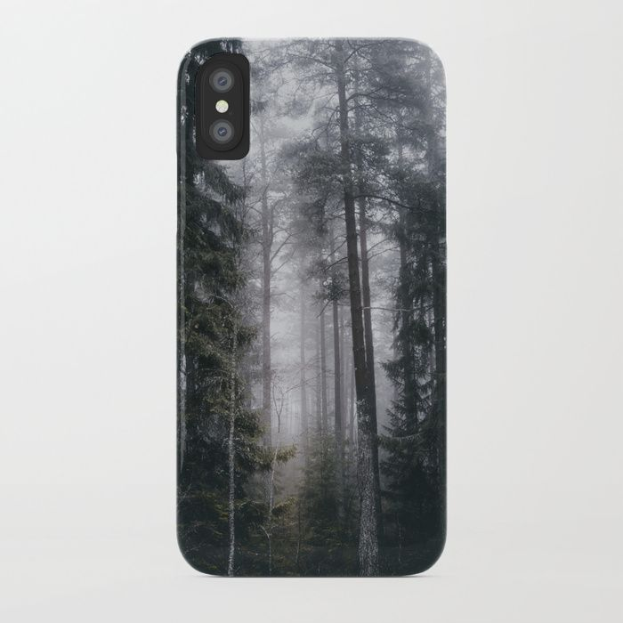Into the forest we go iPhone Case by HappyMelvin. #nature #forest #wanderlust #mystic #fog #phonecases #iphone