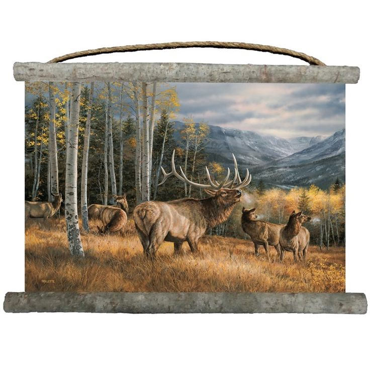 Elk Wall Hanging | Meadow Music | Canvas | Decor | Wall Art