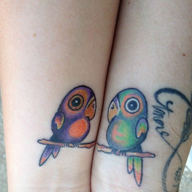 1000 images about parrot tattoo 39 s on pinterest scarlet for Cute best friend tattoos