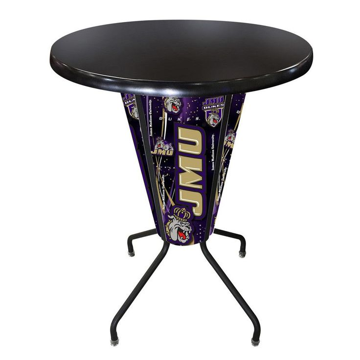 James Madison Dukes Lighted Indoor/Outdoor Table in Black