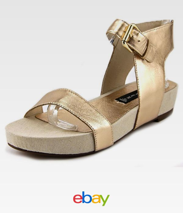 Steven Steve Madden Kaylaaa Women Open Toe Leather Gold Platform Sandal.  Gladiator Sandals ...