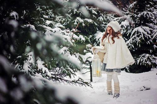 Фея зимнего леса - Детская фотосессия на улице
