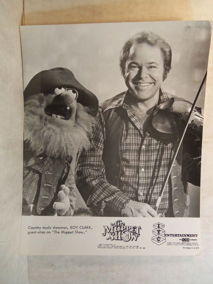 Original 1980 TV Photos THE MUPPET SHOW - ROY CLARK Country HEE-HAW Star
