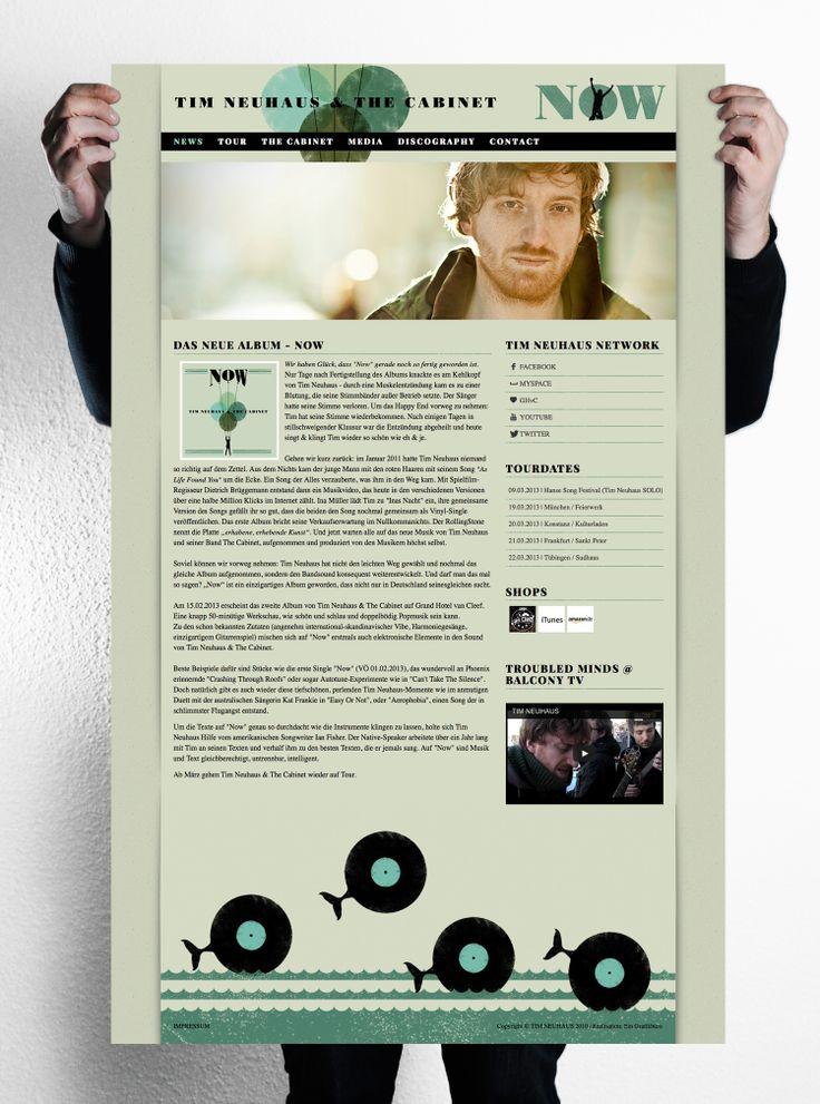 Tim Neuhaus Website Design