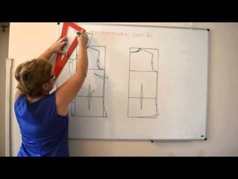 DIY : Modelagem de Gola de Blazer (tradicional e xale) - Aula 29 - YouTube