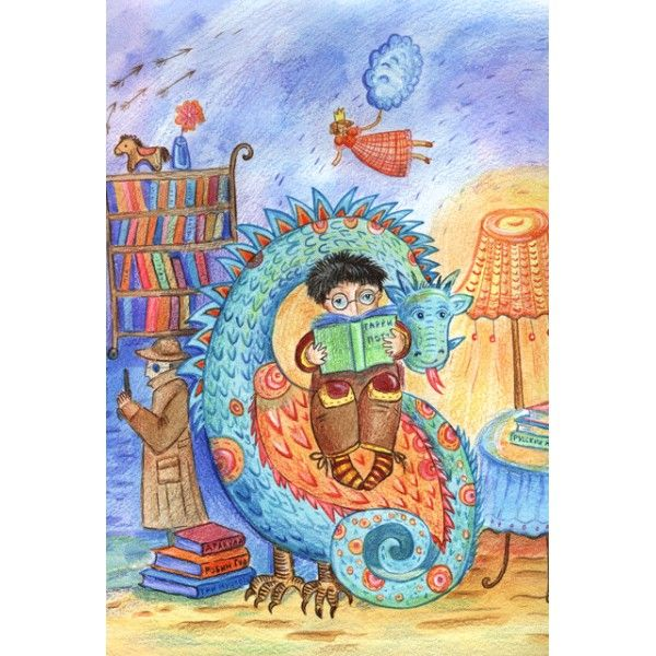 Bookswallower - Postcards, Illustrations