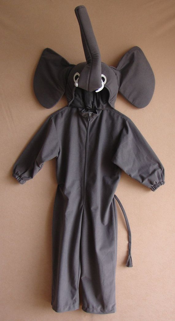 Elephant costume for toddlers kids and adults by Sirenablu on Etsy