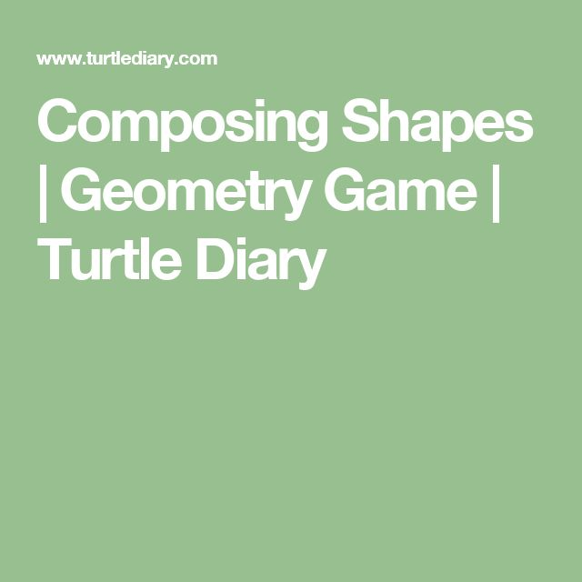 Composing Shapes | Geometry Game | Turtle Diary