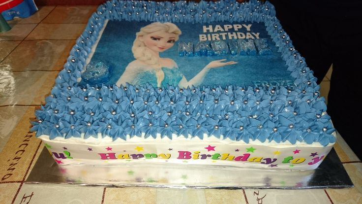 Buttercream frosted Frozen cake
