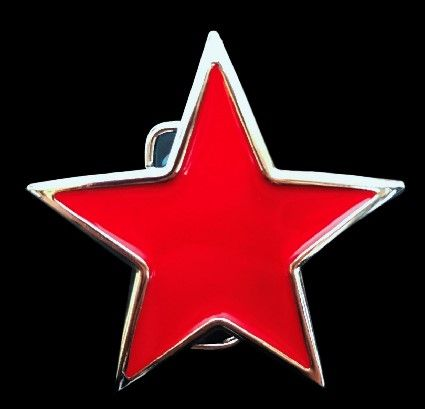 Red Star China Cuba USSR Socialist Party In Belt Buckle #star #northstar #redstar #redstarbuckle #starbeltbuckle #starbuckles #coolbuckle