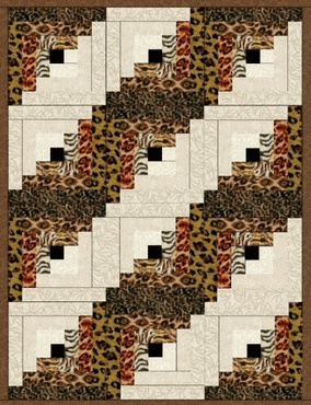NOT YOUR PAMPERED POUNCE Precut Quilt Blocks Kit