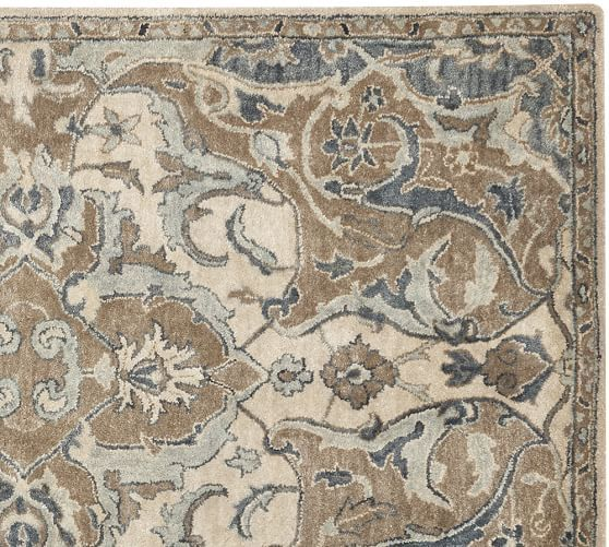Nolan persian style rug neutral pottery barn floor for Pottery barn carpet runners