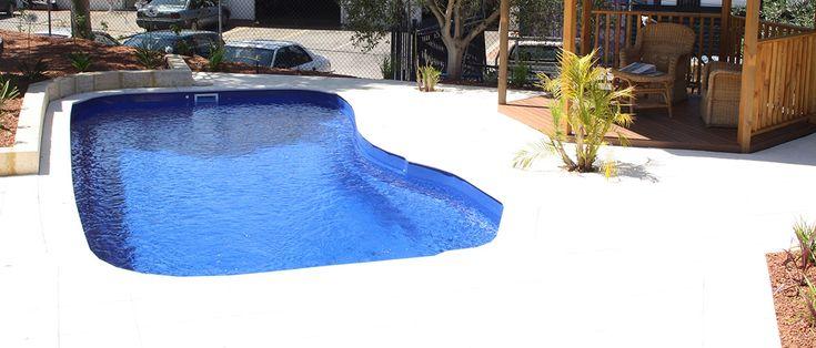 Puffin - 7.5m x 3.6m, 1.1m - 1.6m depth. http://www.sapphirepools.com.au/swimming-pools/puffin/