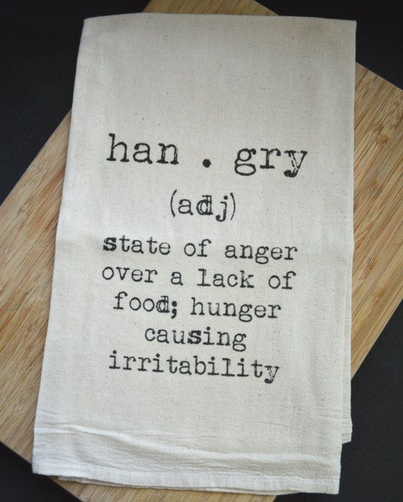 Hangry+Flour+Sack+Tea+Towel+by+FrenchSilver+on+Etsy