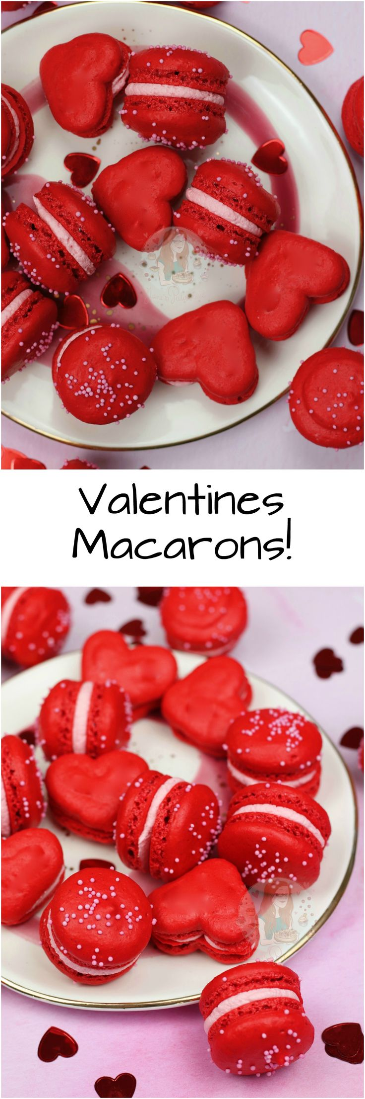 Valentines Macarons! Easy, Delicious and Beautiful Valentines Macarons that are perfect for the Day!