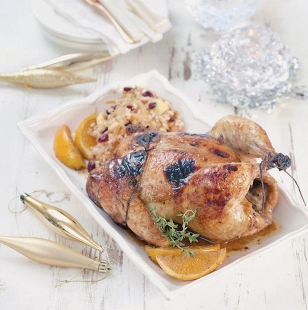 Κόκορας στον φούρνο με γεμιστή πέτσα, από την Ντίνα Νικολάου!