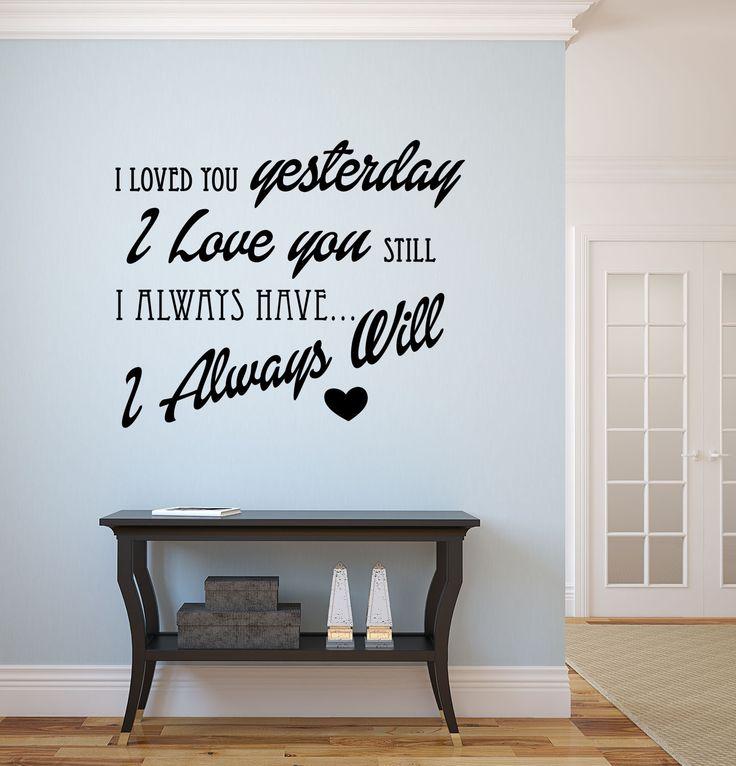 Naklejka na ścianę i meble. http://lemonroom.pl/naklejki-napisy-i-cytaty/288-naklejka-nn002s-60x50cm-i-loved-you.html