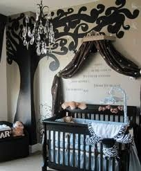Chandelier In A Baby Boys Room