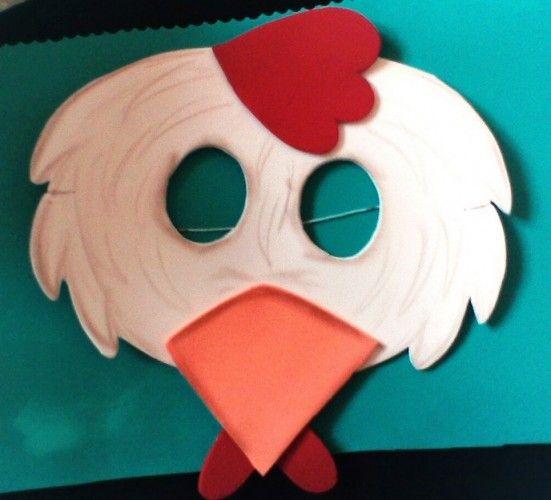 Mascaras de animales en goma eva para disfraces, cotillón, teatro y carnaval. Compartidas por Ana Paula de Coisas da Ana Paula. MOLDES DE MASCARAS DE ANIMA