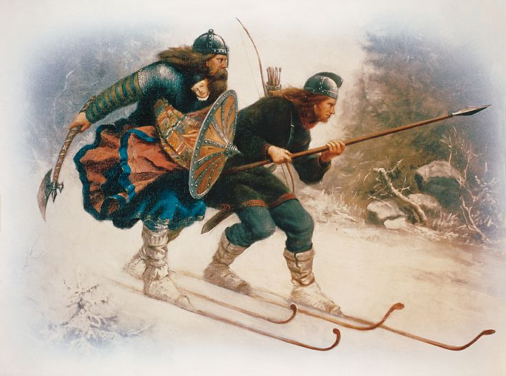 Image of Viking skiing