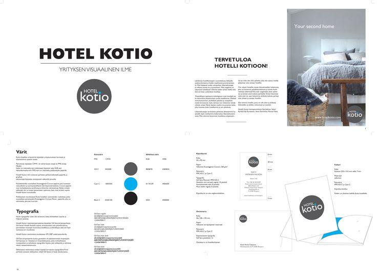 Hotelli Kotion konsepti, yritysilme ja graafiset ohjeet