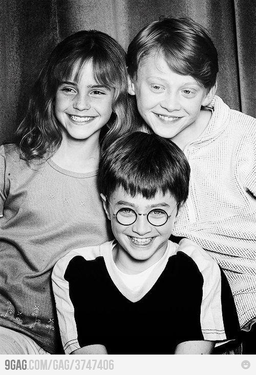 How cute is this??Harry Potter Cast, Emma Watson, Harrypotter, Movie, Baby, Things, Daniel Radcliff, Young, People