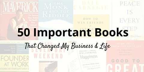 50 books that transformed my life and my business