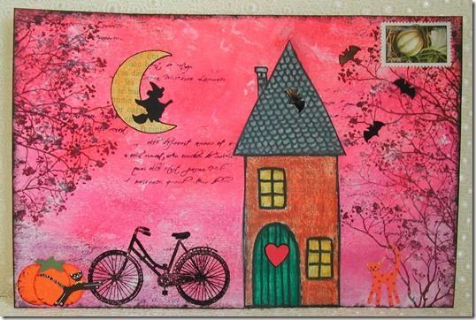 love the pink! a great envelope