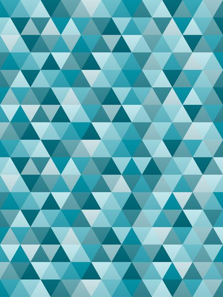 Geometric in Peacock Blue Art Print, by Designer Ham on Society6