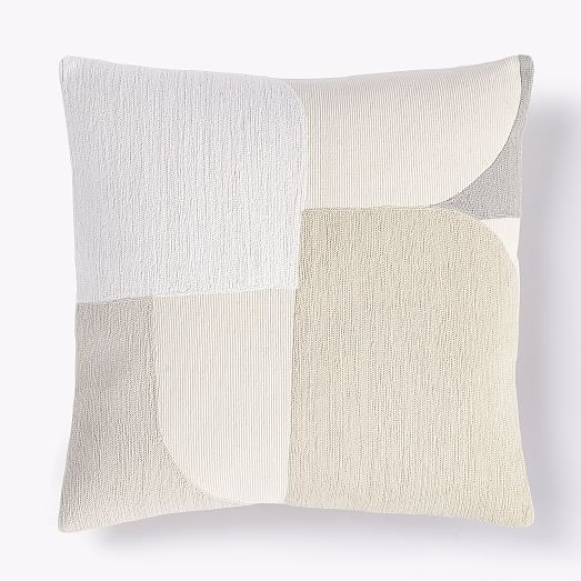 Embroidered Collage Pillow Covers