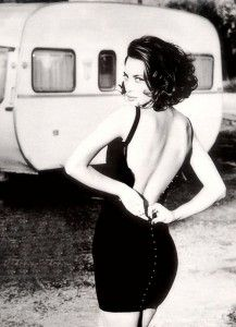 Christy Turlington - photographed by Ellen von Unwerth in 1990 for Vogue Italia.