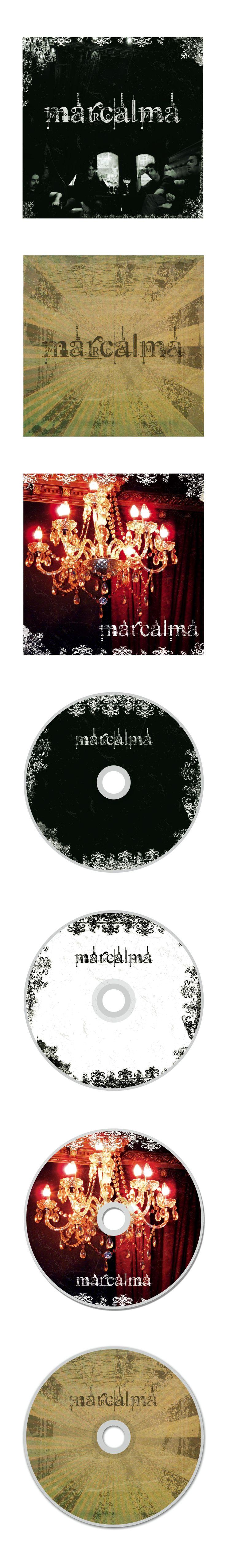 Propuestas de Caratula de CD y galleta para el grupo riojano Marcalma.