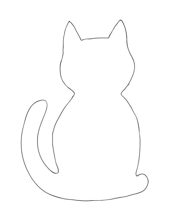 Шаблон картинки кошки