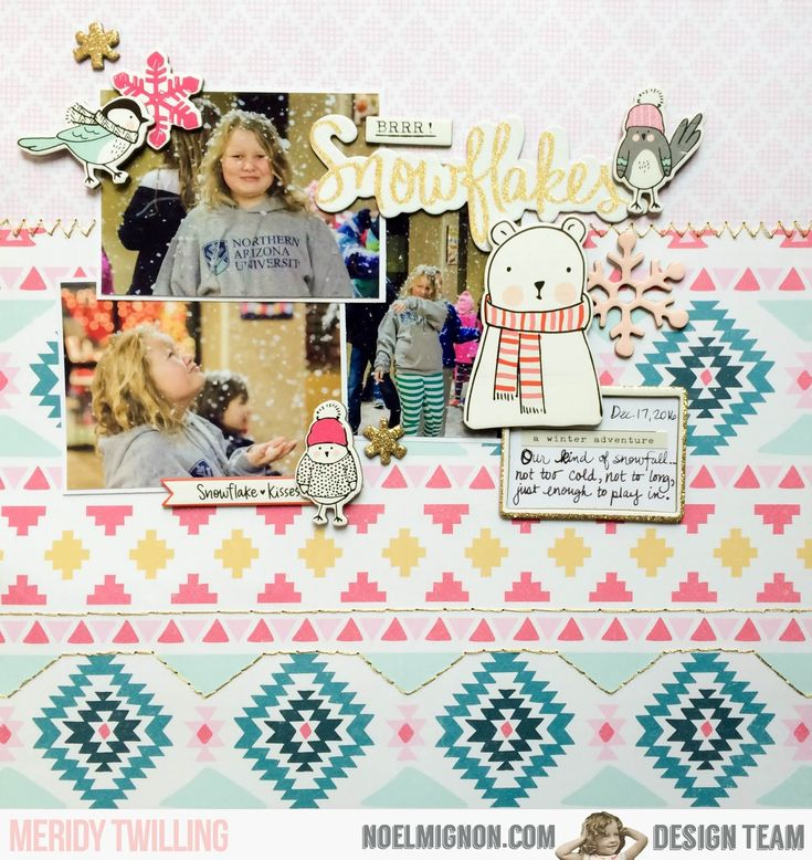 "Hello friends!  It's Meridy here, I have another layout to share with you using the ""Gingerbread & Peppermint"" Daily Diary  and paper add o..."
