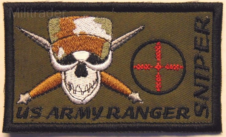 United States (US) Army Ranger Sniper Patch (Camo Cap)