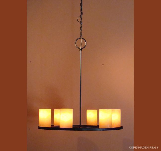 The Copenhagen ring feature light,, Beautiful above a dining table or Entrance table. Different and fresh!