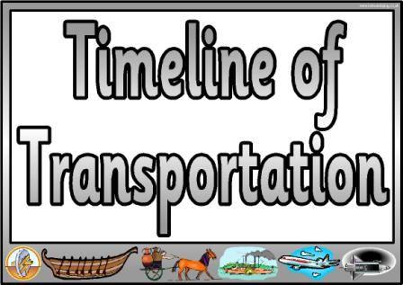 transportation timeline for kids education pinterest kid student. Black Bedroom Furniture Sets. Home Design Ideas