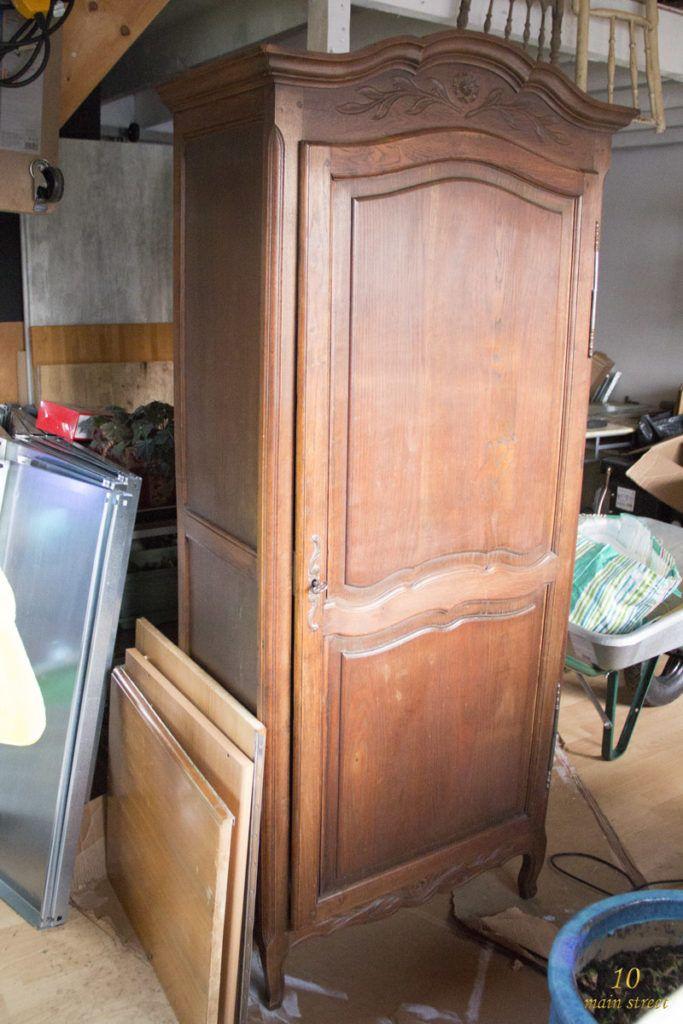 Une belle armoire pour la salle de bain de mes parents Rénovation - Renovation Meuble En Chene