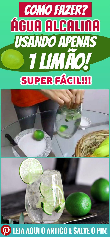 Como Fazer Agua Alcalina Usando Apenas 1 Limao Agua Alcalina
