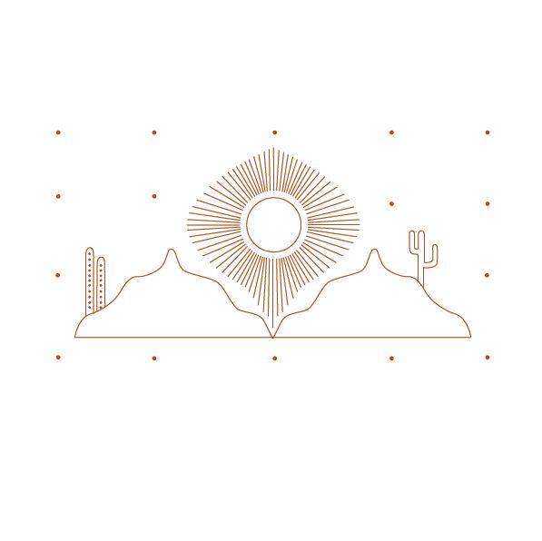 Desert illustration by Cherie Allan - @designbycherie - cherieallan.design
