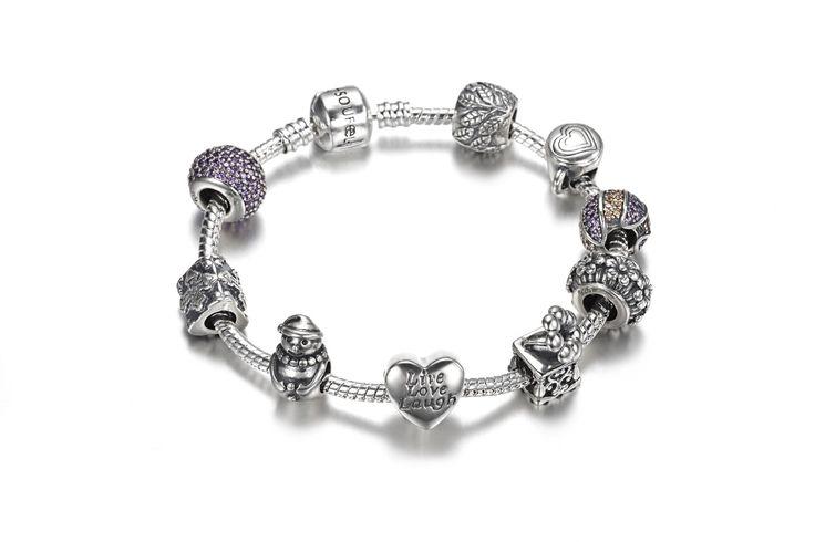 Old Days Charm Bracelet 925 Sterling Silver