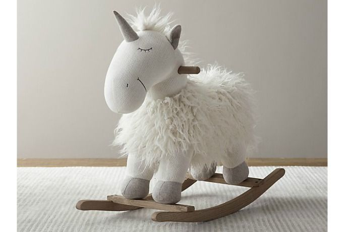Unicorn rocking horse! The cutest baby gift or holiday gift for a cool toddler.