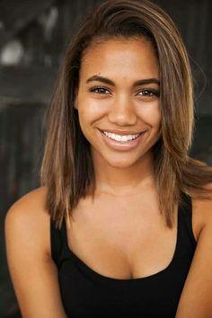 Image result for black girl brown hair