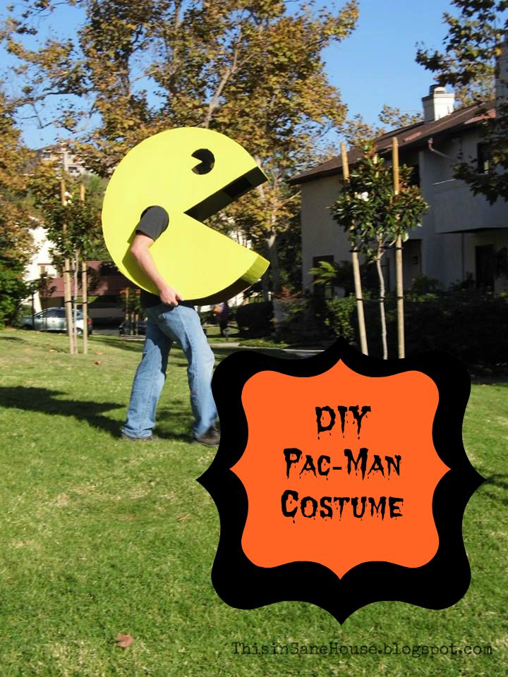 Pacman costume. Could do one kid like this and the others as ghosts