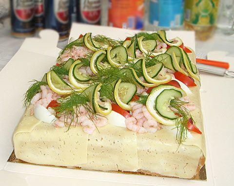 Smorgastårta (Swedish Sandwich Cake)