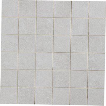 Mosa que factory artens gris 5x5 cm tour2 douche for Carrelage 5x5 blanc