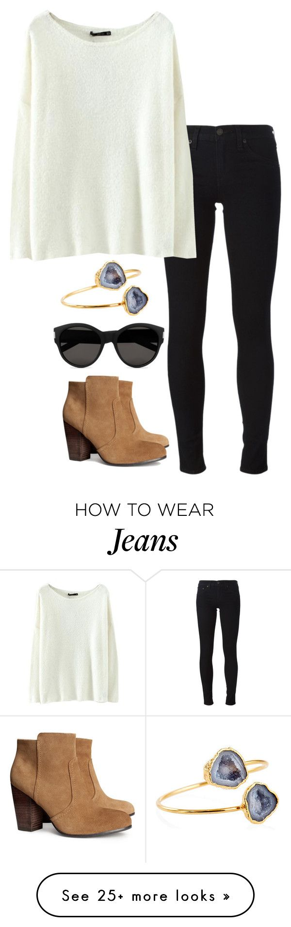 quot black jeans quot  by helenhudson1 on Polyvore featuring H amp M  Janna Conner  Yves Saint Laurent and rag  amp  bone JEAN