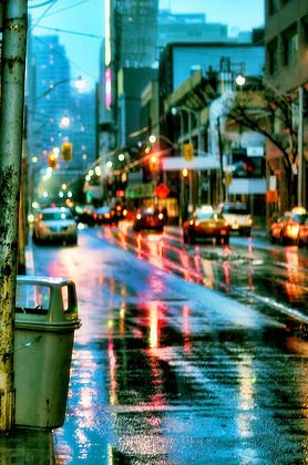 Reflection lights in city streets...